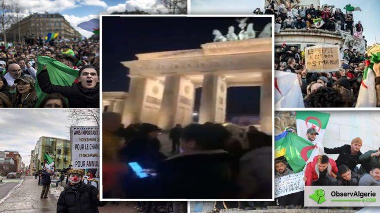 Des Algériens protestent contre la présence de Tebboune à Berlin
