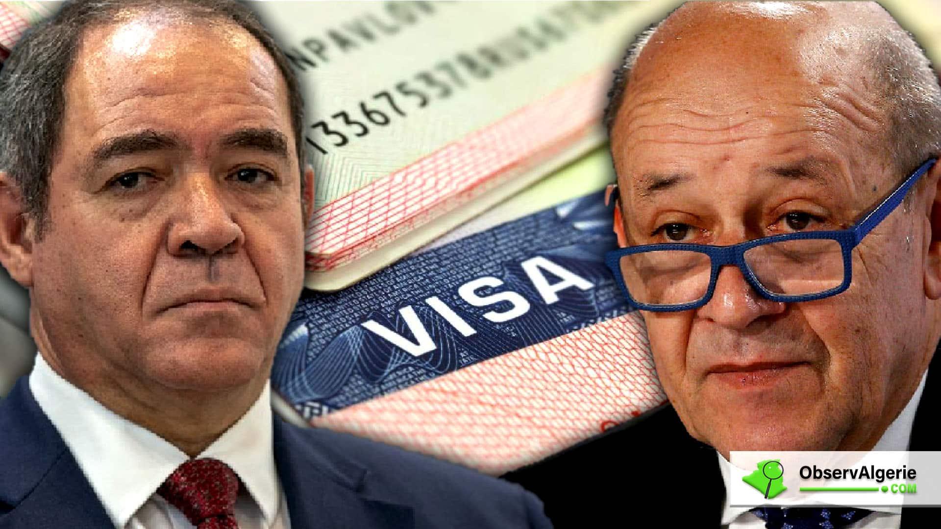 Algérie-France : Boukadoum évoque avec Le Drian le dossier des restrictions sur les visas